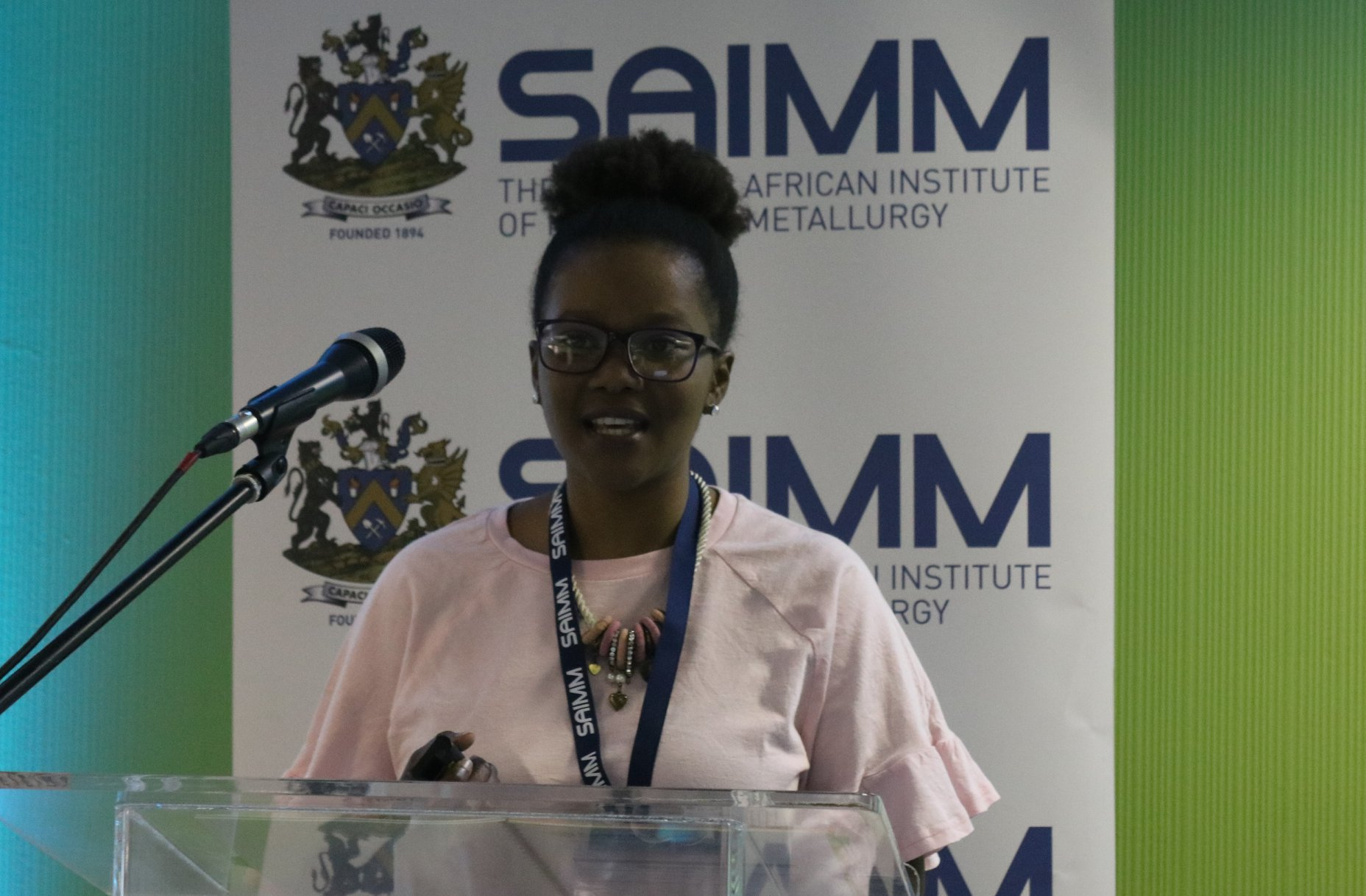 "Using a strong base anion resin to remove sulphuric acid from ammonium sulphate solution through acid retardation"" presented by Busisiwe Silwana from Cwenga Technologies at the 4th Young Professionals Conference"